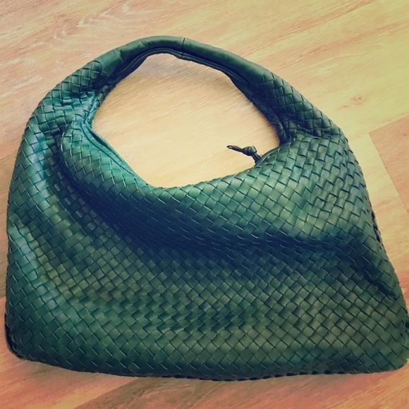 039e8f740 Bottega Veneta Handbags - Bottega Veneta Nappa Leather Intrecciato Hobo Bag